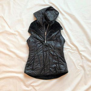 lululemon black vest with detachable hood